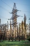 Línea eléctrica eléctrica Foto de archivo
