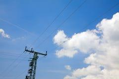 Línea eléctrica eléctrica Foto de archivo libre de regalías