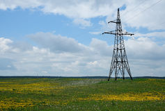 Línea eléctrica eléctrica Fotografía de archivo