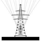 Línea eléctrica eléctrica Vector eps10 Imagenes de archivo