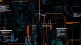 Línea electrónica del circuito abstracto del fondo para el concepto de la tecnología con la profundidad baja de la oscuridad y de ilustración del vector