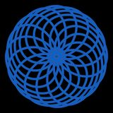 L?nea elegan azul del globo transparente del extracto para el logotipo o s?mbolo o etc libre illustration