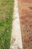 Línea en campo de fútbol Fotos de archivo