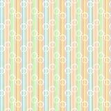 Línea en colores pastel modelo inconsútil de los vidrios Imagen de archivo