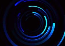 Línea espiral fondo del círculo del extracto Foto de archivo