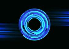 Línea espiral fondo del círculo del extracto Fotos de archivo libres de regalías