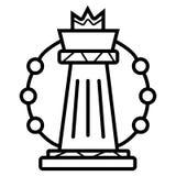 Línea estratégica icono del plan stock de ilustración