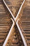 Línea ferroviaria Fotografía de archivo libre de regalías