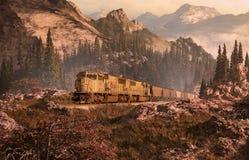 Línea ferroviaria de Colorado stock de ilustración