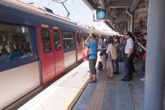 Línea ferroviaria del Kowloon-Cantón, Hong-Kong Fotos de archivo