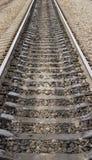 Línea ferroviaria foto de archivo