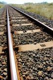 Línea ferroviaria no un tren en vista Fotos de archivo