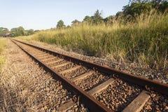 Línea ferroviaria pistas Fotografía de archivo libre de regalías