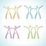 Línea figura coupls de Swirly stock de ilustración
