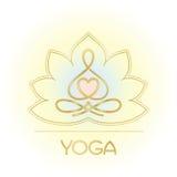 Línea figura de Lotus para un centro de la yoga Imagen de archivo