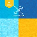 Línea fina Art Construction Pattern Set Imagenes de archivo