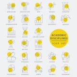 Línea fina disciplinas del academic Imagen de archivo