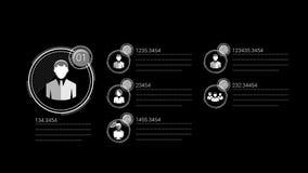 Línea fina elemento corporativo de Infographic con Alpha Channel ilustración del vector