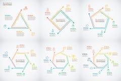 Línea fina elemento plano para infographic libre illustration