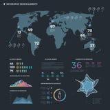 Línea fina elementos de Infographic Plantilla del infographics del negocio del vector ilustración del vector