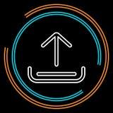 Línea fina icono de la carga por teletratamiento simple del vector libre illustration