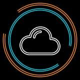 Línea fina icono de la nube simple del vector stock de ilustración