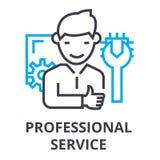 Línea fina icono, muestra, símbolo, illustation, concepto linear, vector del servicio profesional libre illustration
