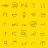 Línea fina iconos de la alameda de compras Fotos de archivo libres de regalías
