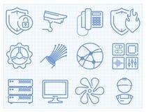 Línea fina iconos del vector fijados libre illustration