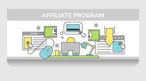 Línea fina iconos para la campaña de marketing de Internet Libre Illustration