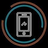 Línea fina móvil simple icono del vector ilustración del vector