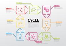 Línea fina plantilla del infographics Foto de archivo
