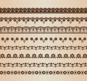 Línea floral retra Imagenes de archivo