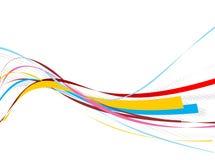 Línea fondo de la onda del arco iris Fotos de archivo libres de regalías