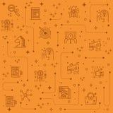 Línea fondo del márketing de los iconos stock de ilustración