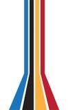 Línea frontera colorida Fotografía de archivo libre de regalías