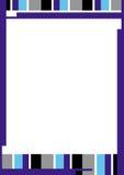 Línea frontera de color Imagen de archivo libre de regalías