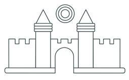Línea fuerte de la nieve del icono El concepto de resto activo stock de ilustración