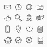 Línea general icono del símbolo en el fondo blanco Foto de archivo libre de regalías