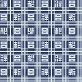 Línea geométrica azul japonesa modelo libre illustration