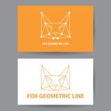Línea geométrica del Fox Imagen de archivo libre de regalías