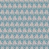 Línea geométrica estampado de flores inconsútil del artdeco del estilo Imagen de archivo libre de regalías