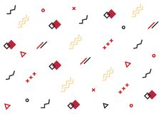 Línea geométrica fondo de las formas Modelo blanco inconsútil con las líneas geométricas libre illustration