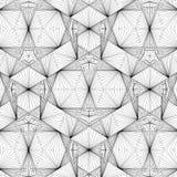 Línea geométrica vector del alambre del ejemplo de la estructura Fotos de archivo libres de regalías