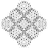 Línea geométrica vector del alambre del ejemplo de la estructura Imagenes de archivo