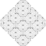 Línea geométrica vector del alambre del ejemplo de la estructura Imágenes de archivo libres de regalías