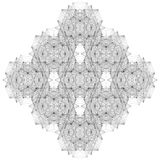 Línea geométrica vector del alambre del ejemplo de la estructura Fotos de archivo