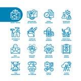 Línea gorda sistema del negocio del icono Foto de archivo libre de regalías