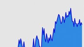 Línea gráfico azul en la carta blanca del fondo del comercio de la inversión del mercado de acción ilustración del vector