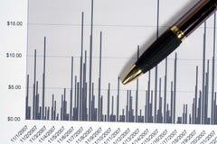 Línea gráfico financiera Foto de archivo